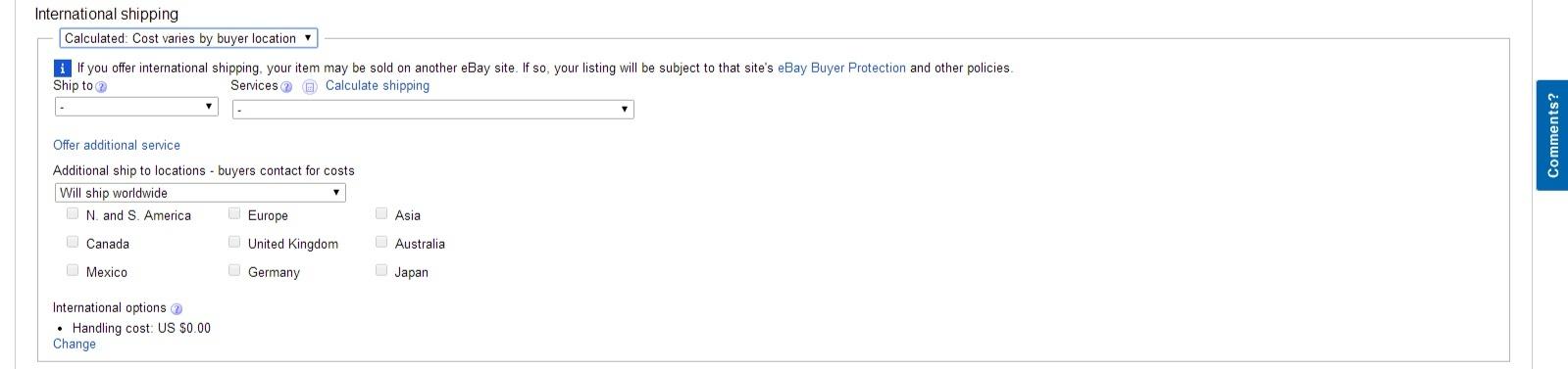 ebay international shipping