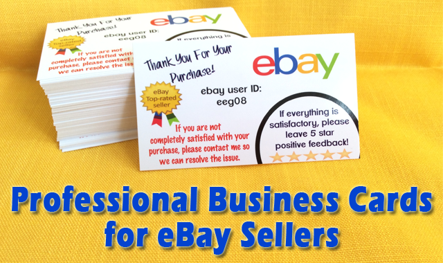 The best ebay business cards ebay sellers ebay seller business cards with user id reheart Gallery