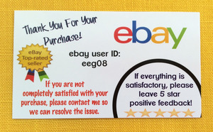 Ebay Er Business Card With User Id
